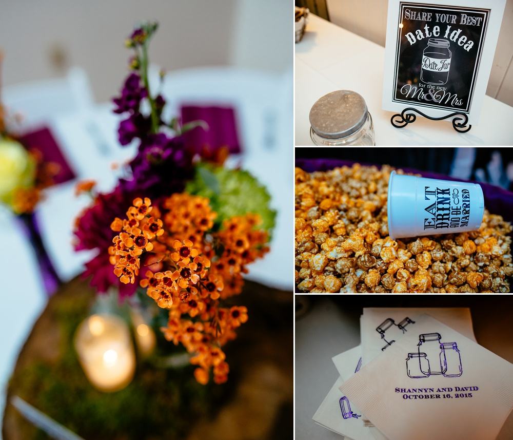 Details at Travellers Rest Reception - Food, flowers, napkins and details