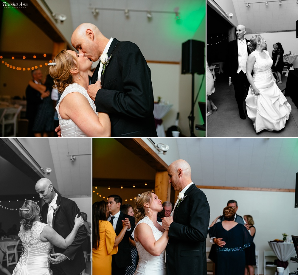 Last Dance of the Evening with Bride and Groom at Travellers Rest