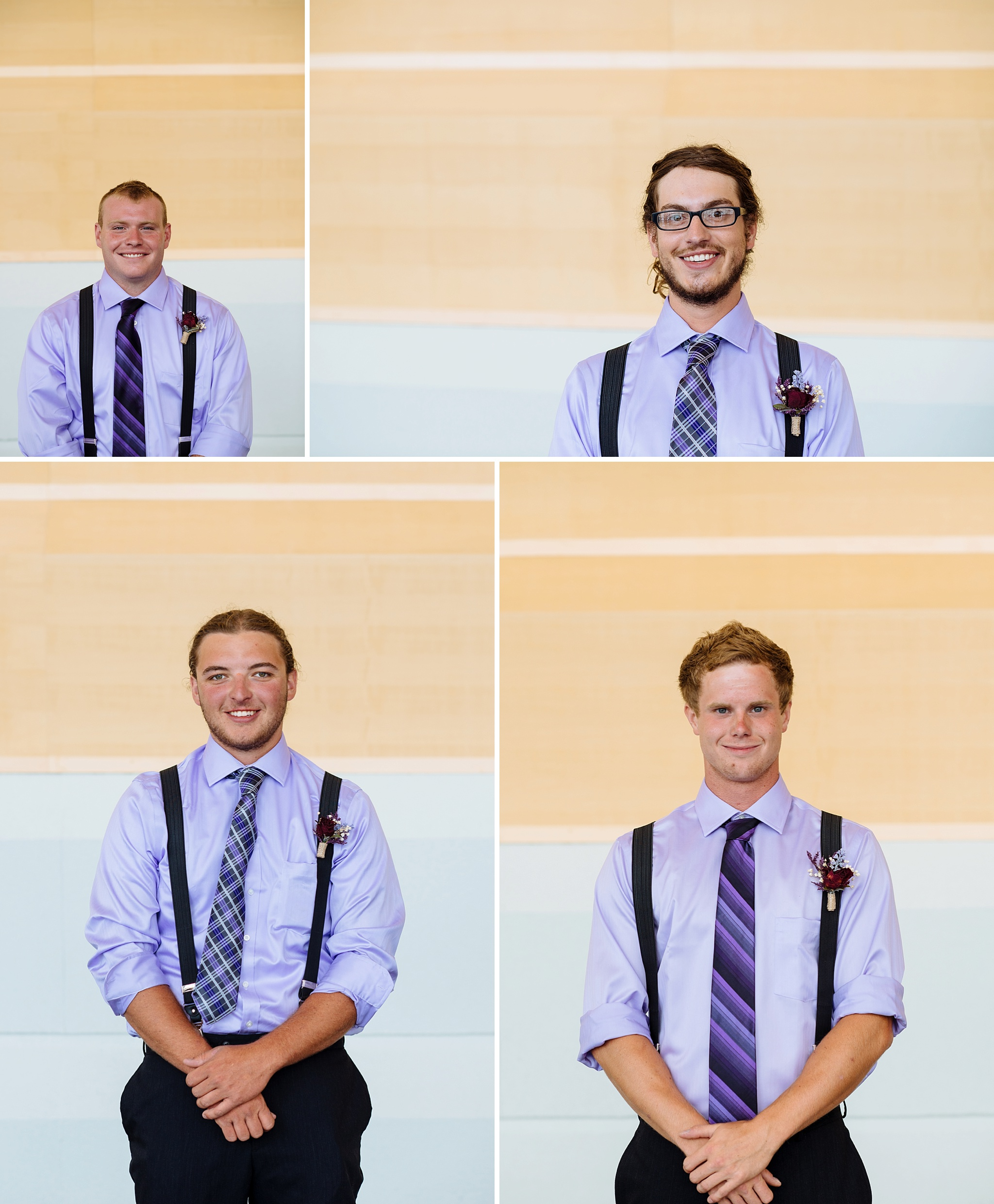 Photos of all of the groomsmen individually.