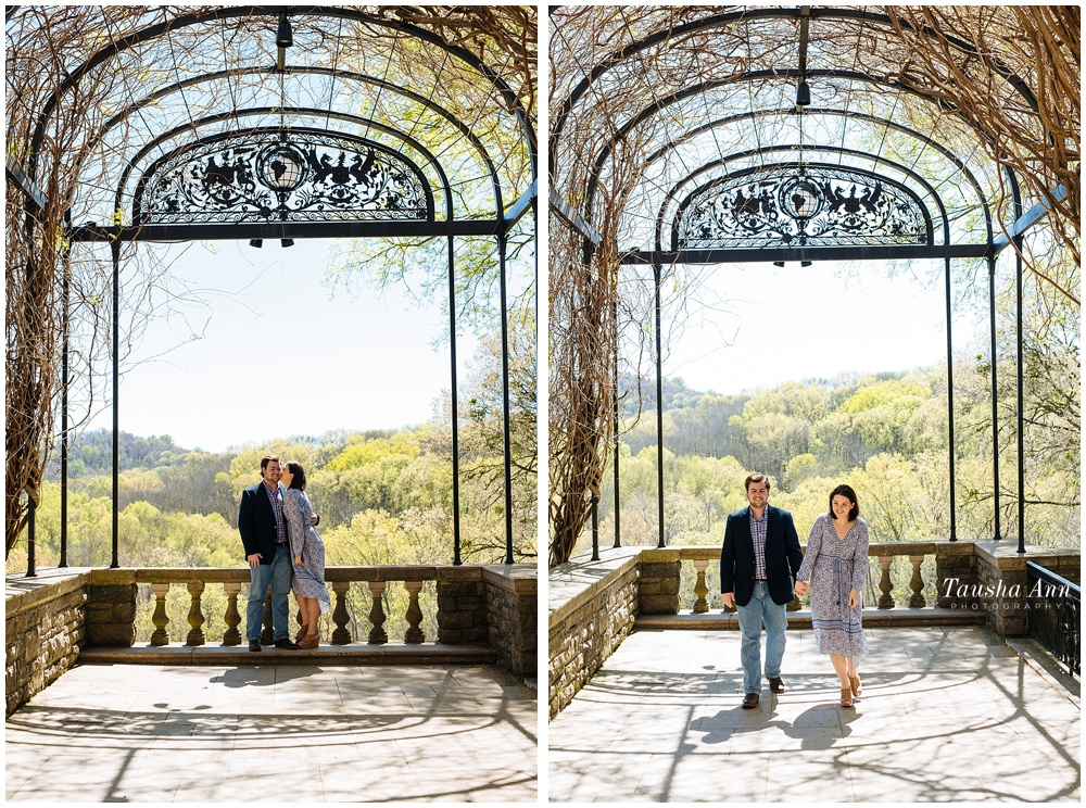 Surprise Proposal at Cheekwood Botanical Gardens - She Said Yes - Under the arch