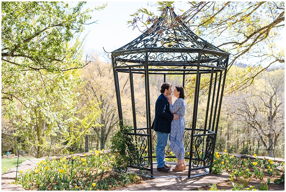 Surprise Proposal at Cheekwood Botanical Gardens - She Said Yes - in the cage