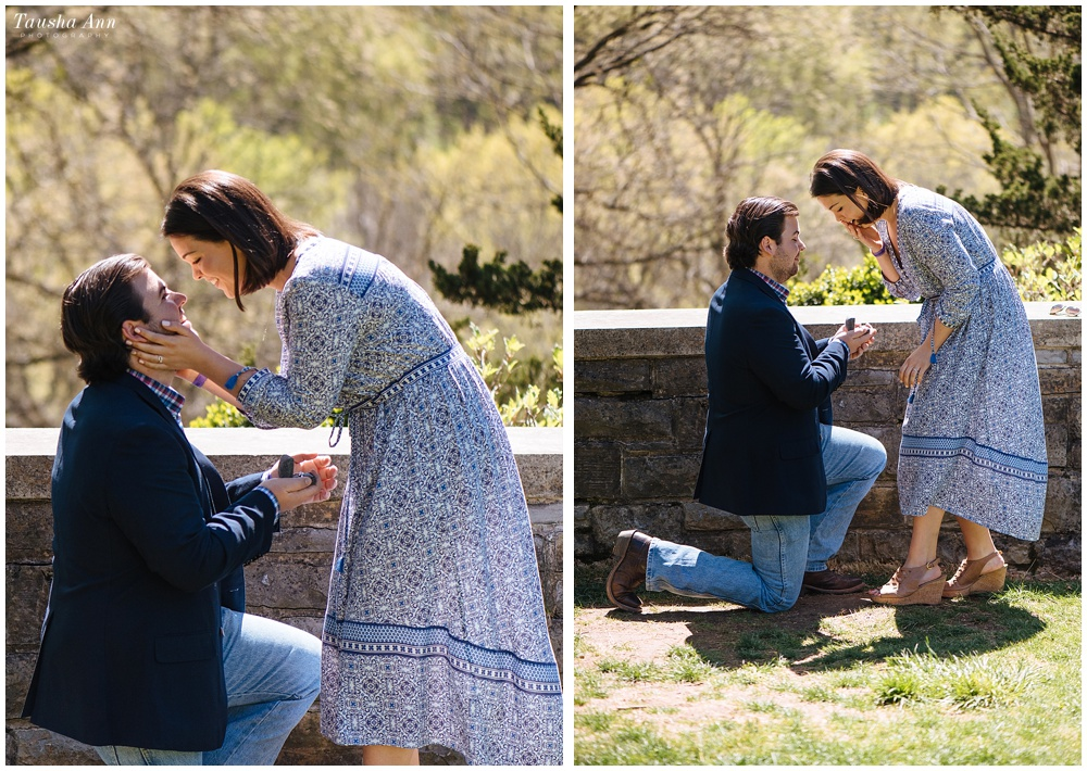 Surprise Proposal at Cheekwood Botanical Gardens - She Said Yes - Pure Happiness - Engagement