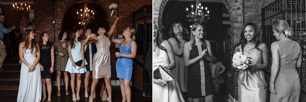 Catching the bouquet, Reception at McConnell House, Historic, Downtown Franklin=