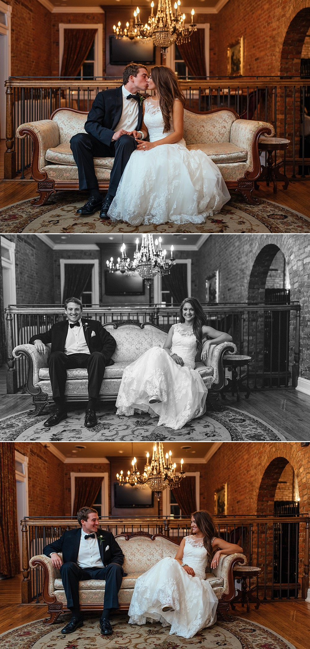 Bride + Groom portraits - Reception at McConnell House, Historic, Downtown Franklin=