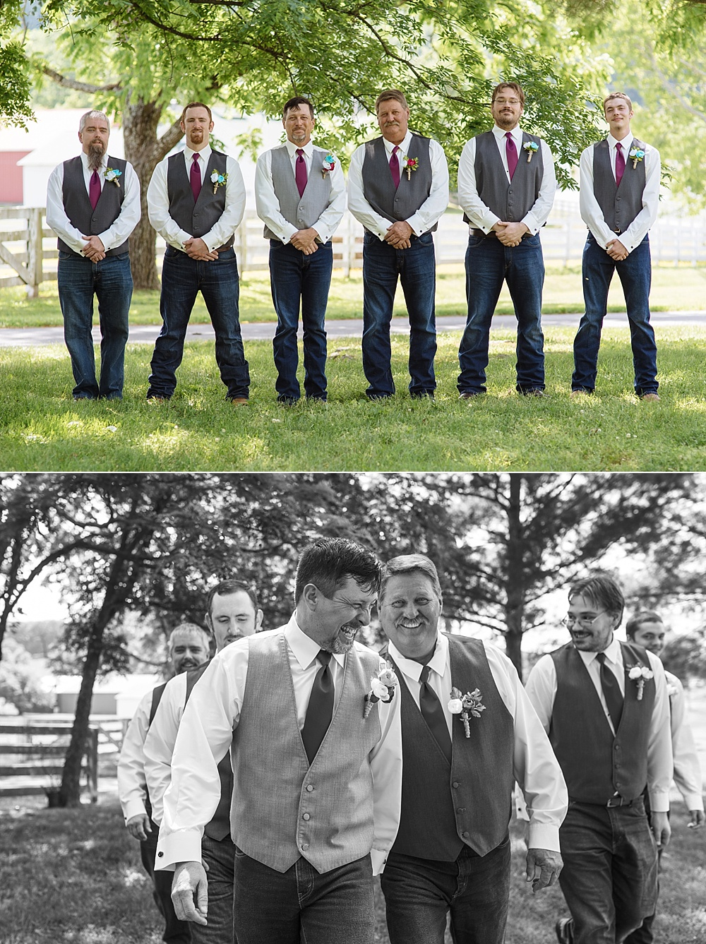 Groomsmen formal photos and candid photo