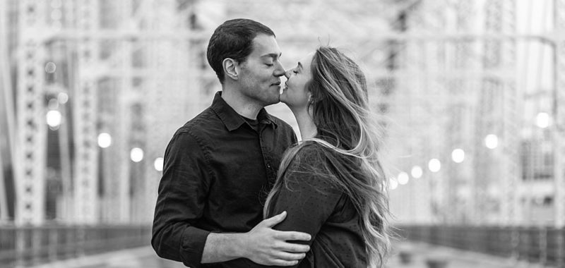 Blake + Paige Sweet Sunrise Engagement Shoot // Downtown Nashville